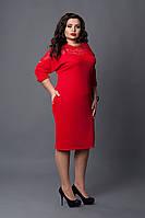 Платье мод №508-2, размер 56 красное, фото 1