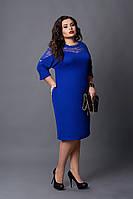 Платье мод №508-3, размер  54-56 56-58 eлектрик, фото 1