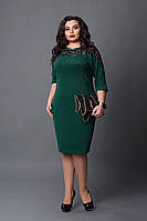 Платье мод №508-4, размер 50-52  зеленое, фото 1