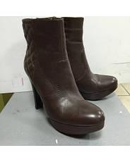 Ботильоны женские демисезонные коричневые на высоком каблуке и платформе Sisley, фото 3