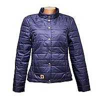 Куртка женская темно-синяя новые модели  KD375-8