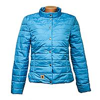 Куртка женская голубая оптом и в розницу  KD375-9
