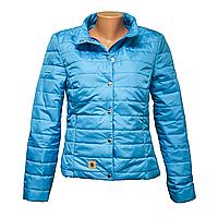 Куртка женская голубая оптом и в розницу  KD1375-9 48