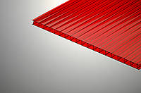 8 мм, сотовый поликарбонат, Красный