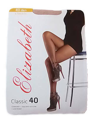 Женские колготки Elizabeth classic 40 den natural, фото 2