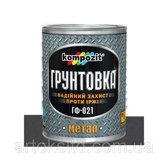 Грунтовка ГФ-021 (светло-серый) 2.8кг Kompozit®