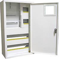 Щит распределительный под 3ф счетчик электронный +36 автоматов наружный