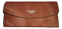 Интересный женский кошелек YA MEI коричневого цвета VVX-090020
