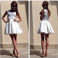 Короткое летнее платье с пышной юбкой