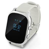 Умные часы с GPS трекером Smart Watch T58 для подростков и родителей. Серебристый.