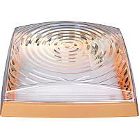 Светильник HOROZ ELECTRIC 2*26W (Классика) Квадрат золото