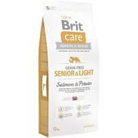 Brit Care Grain-free SENIOR&LIGHT 12кг - беззерновой корм для стареющих и склонных к ожирению собак (лосось)