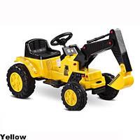 Детский электромобиль экскаватор Toyz Caretero Digger MP3, LED желтый