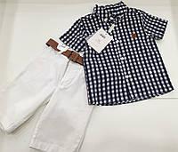 Детский летний костюм - рубашка , шорты - для мальчика на 3 - 6 лет