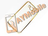 Чехол силикон Samsung J710 Fashion Case золотой