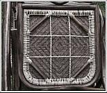 Плетене крісло-гойдалка з ротангу з підніжкою, фото 8