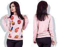 Свитшот женский трикотажный «Кекс» P5486
