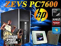 Отличный Игровой ПК ZEVS PC7600 + R7 250 2GB + 8GB RAM +Клавиатура +Мышка!