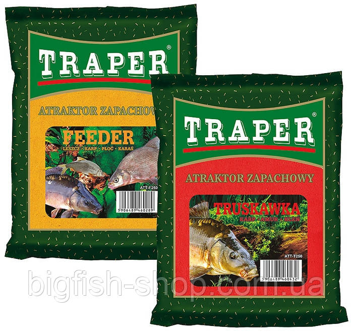 Сухая добавка в прикормку Attraktor Traper ''Клубника''