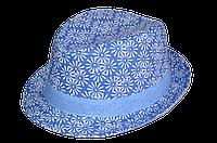 Шляпа детская челентанка х/б ромашка мелкая