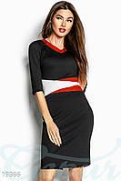 Повседневное платье миди. Цвет черный.