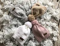 Вязанная шапка с бубоном