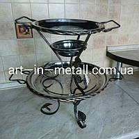 VIP MAXI Подставка для шашлыка Садж с коваными элементами