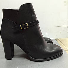 Ботиночки женские короткие классические  демисезонные черные кожаные  Kell, фото 3