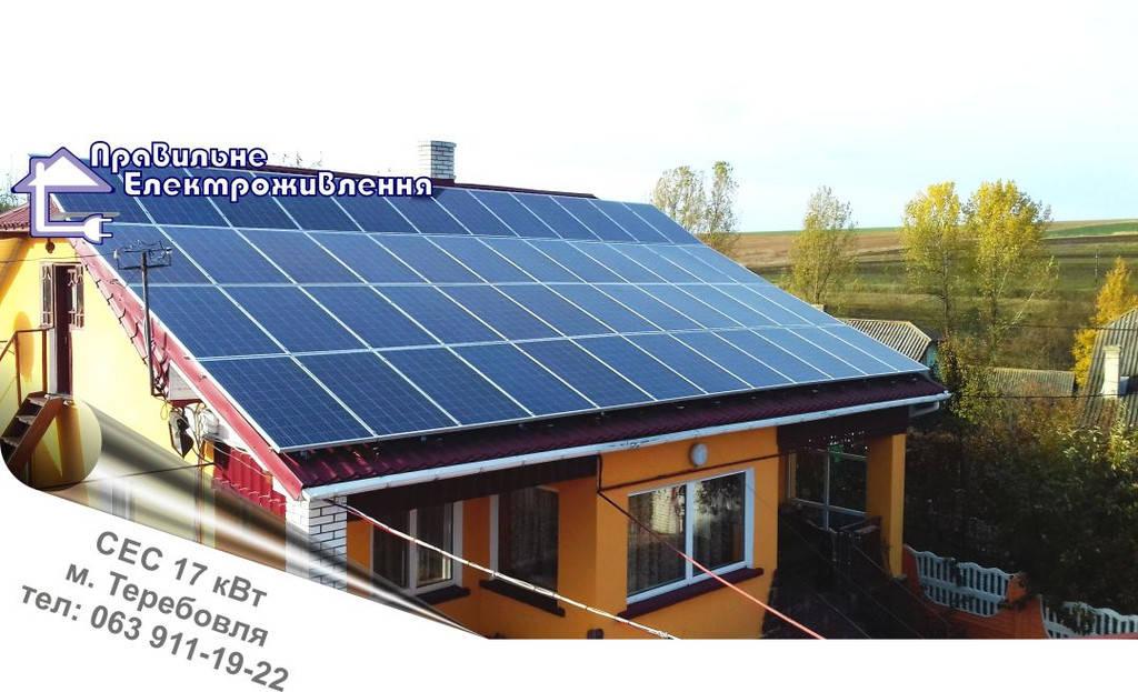 Сонячна електростанція 17 кВт*год м. Теребовля