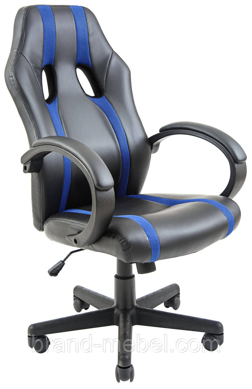Кресло Спорт Драйв синие вставки Richman
