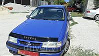 Дефлектор капота (мухобойка) Opel Vektra A 1989-1996, на крепежах