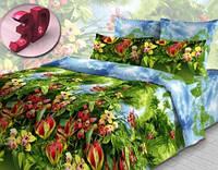 Комплект постельного белья двуспальный бязь  - 3913/1 Райский уголок