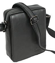 Стильная мужская сумка-планшетка из натуральной кожи Always Wild 771 NDM черная 18х24х8 см.
