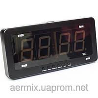 Часы электронные Caixing CX 2159, электронные часы с ярким светодиодным LED  дисплеем, часы настенно 8479a5f3af7