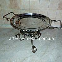 Отличный подарок VIP Подставка для шашлыка Садж с коваными элементами
