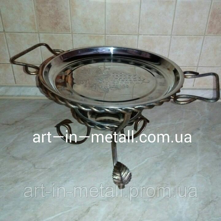 VIP Подставка для шашлыка Садж с коваными элементами