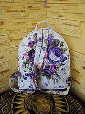 """Рюкзак  женский """"Сиреневый букет (ранец)"""", фото 3"""
