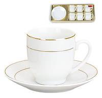 Набор кофейный (6 чашек и 6 блюдец) 382-109