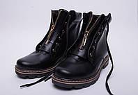 Ботинки №376-1 черная кожа, фото 1