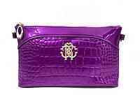 Клатч в стиле Roberto Cavalli (PU) purple, фото 1