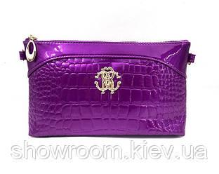Клатч  в стиле Roberto Cavalli (PU) purple