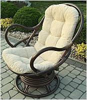 Кресло - качалка из натурального ротанга вращающееся