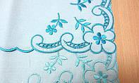 """Свадебный Вышитый платок """"Цветочек"""", 20х20 см"""