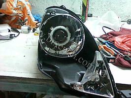 Установка биксеноновых линз G5 с глазами на Nissan Note 1