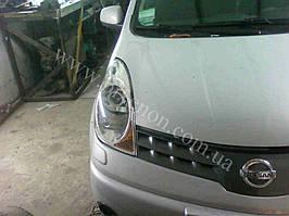 Установка биксеноновых линз G5 с глазами на Nissan Note 2