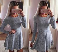 Женское расклешенное платье 8834