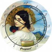 Часы настенные из стекла - Незнакомка(немецкий механизм)