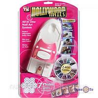 Набор для дизайна ногтей стемпинга Hollywood Nails, фото 1