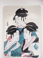 Японская маска для лица Золото + Экстракт цветков Сакуры, MITOMO 1 штука