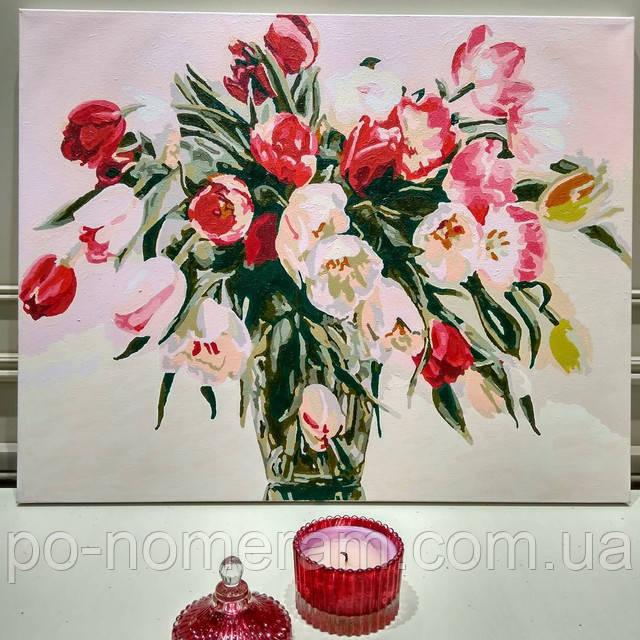 Отзыв о картине по номерам Тюльпаны в вазе
